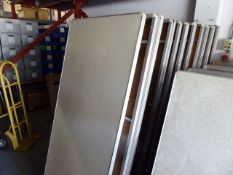 5x 6ft rectangular folding trestle tables