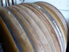 6x 5ft diameter round folding trestle tables