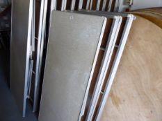 5x 5ft rectangular folding trestle tables