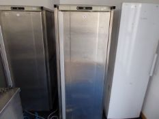 67cm Gram single door fridge in mobile cage