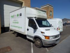 BU54 JNF Iveco Daily 35C12HPI Luton box van with tail lift, SWB, 120,000 miles, MOT: 20.04.22, first