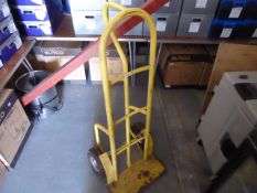 Yellow sack trolley with pump up wheels