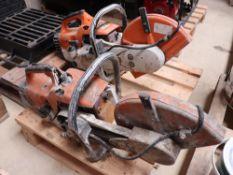 2 Stihl TS400 petrol engine site saws