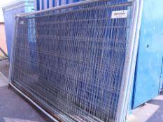 11 Heras type fencing panels