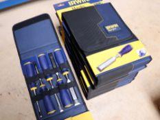 6 Packs of Irwin marples chisels