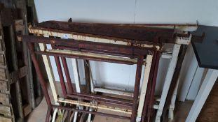 7 assorted builders trestles