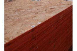 Twenty 8 x 4 OSB boards, 12mm thick