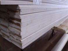Large quantity of 5.4m length white painted MDF skirting