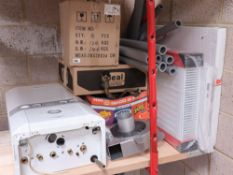 Qty of plumbing components inc. 3x packaged radiators, a Hydrobreak Optimum flow control unit, a