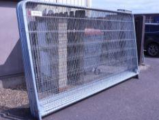 9 Heras type fencing panels