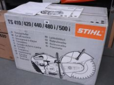 Stihl TS410 petrol engine site saw in original box with instructions