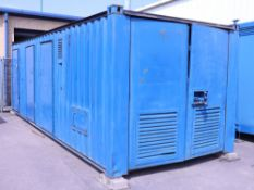 24ft by 9ft welfare unit with large diesel engine generator, single chemical toilet, large office/