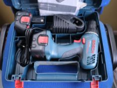 Bosch GSR12-2 professional screw gun with 2 batteries, charger and instructions