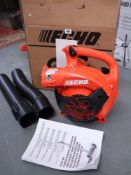 Echo PB2520 petrol engine garden blower in original box and instructions