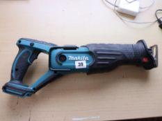 Makita BJR181 battery operated reciprocating saw (No battery, no charger)