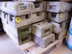 Pallet of approx. 20 concrete Heras type fencing feet