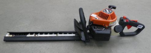 Tanaka orange petrol powered hedge cutter