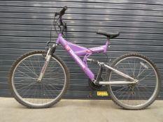4022 Purple Odessa child's suspension mountain bike