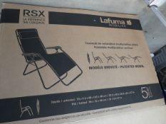 4149 Two boxed Lafuma chairs