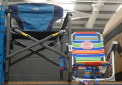 Timber Ridge fold up camping chair and a Tommy Bahama beach chair