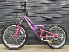 Small purple child's bike