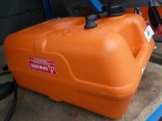 Orange portable fuel tank