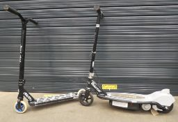 Razor electric scooter and a push scooter