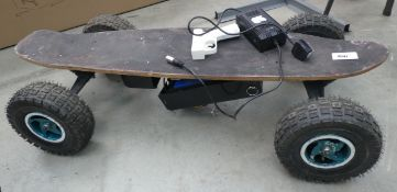 Electric powered skateboard
