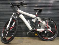 Black extreme mountain bike