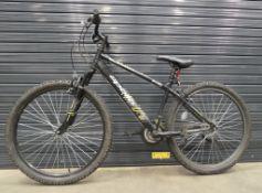 Apollo black and yellow mountain bike