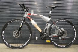 Black and red extreme town bike