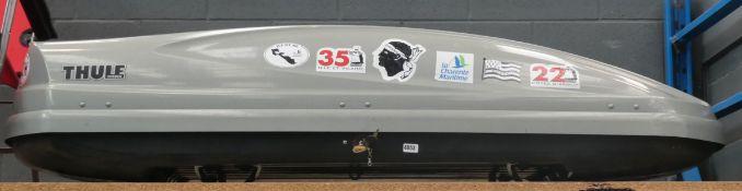 Large Thule grey car roof box