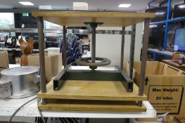 Approx 15'' square book binding screw press