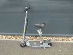 Pro Junior electric scooter in chrome