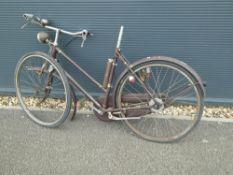 Vintage bike in burgundy (parts)