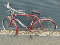 Popular bike in burgundy