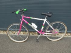 (4) Equaliser mountain bike in white and pink