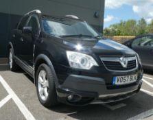 Vauxhall Antara SE CDTI in black, registration plate VO57 BLK, first registered 01.09.2007, 5 door