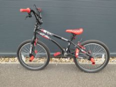 Game BMX bike in black and red