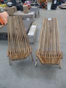 Pair of CleverMade tamarack chairs in teak