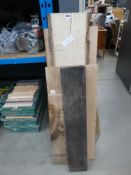 Selection of timber boards to include pine and oak