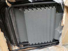 Grey boxed garden lounger