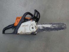 Stihl MS180C petrol powered chainsaw