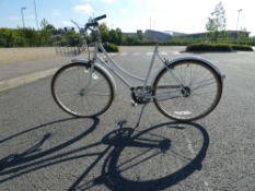 White Raleigh ladies bike