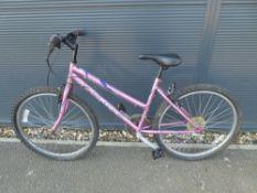 Light pink kids bike