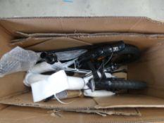 Boxed fold up bike