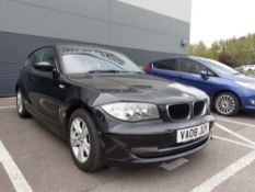 BMW 1161SE in black, registration VA08 JUY, 1600cc, petrol, with receipts and old MOT's, No V5