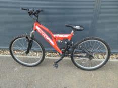 Trax red childs bike