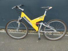 Krull yellow mountain bike