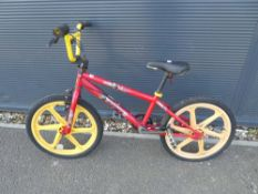 Redemption red and yellow BMX